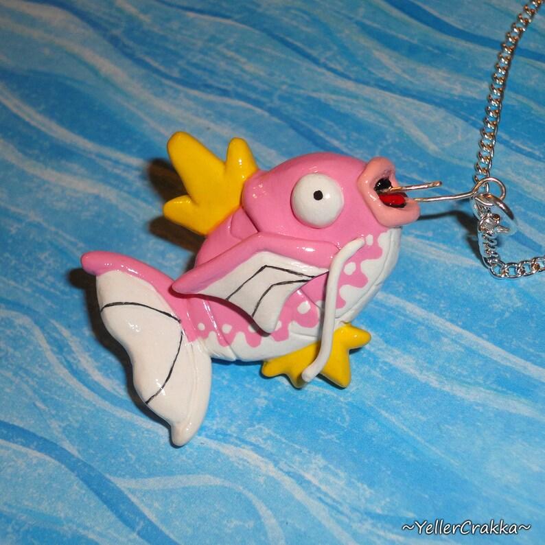 Pokemon Magikarp Fishing Necklace Pink Dapples Magikarp Etsy