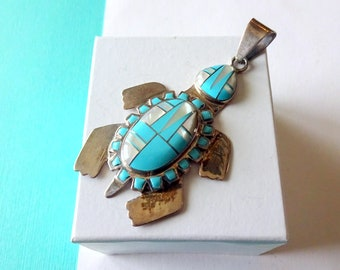 12 18x14mm Red Turquoise Turtle Pendant  Beads