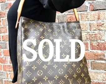 79988dfbae85 Large Louis Vuitton Monogram Looping GM Bag