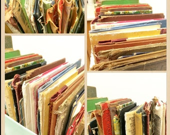Old Book Covers, Decorative Book Covers, Salvage Book Covers, Repurpose Books, Supply junk Journal, Book Crafts, Book Art ,100s AVAILABLE