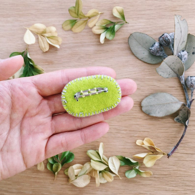 Gift for Teens Woodlands Lapel pin Nature lover Plant lover Mossy Moss on rock brooch Wooden pin Badge Gift for Her