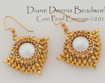 Digital Instructions for Coin Pearl Earrings