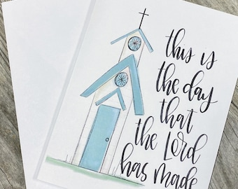 This Is The Day That The Lord Has Made - Christian Note Cards