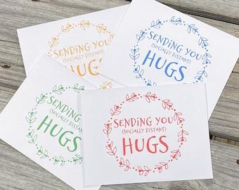 Quarantine 2020 - Social Distancing Stationery - Quarantine 2020 - Greeting Cards - Set of 20