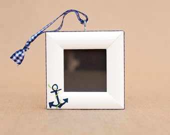 nautical anchor picture frame ornament