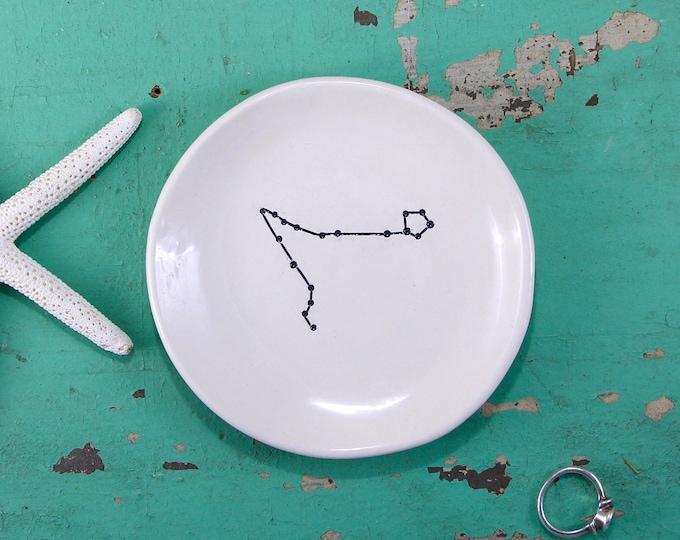 Zodiac Ring Dish, Personalized Constellation Ring Dish, Custom Horoscope Ring Dish, Custom Birthday Gift, Personalized Birthday Gift