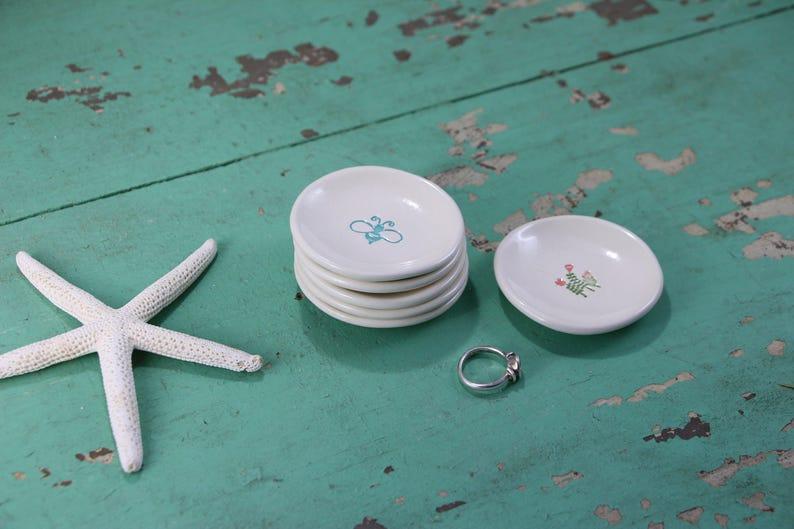 Ring Dish Piggy Mini Ceramic Dish Piglet Jewelry Dish Trinket Dish Pink Pig Round Organizing Dish