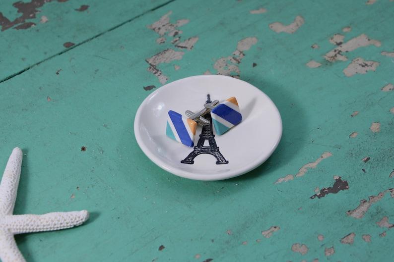 Organizing Dish St Patricks Day Gift Catch All Dish Irish Ring Dish Trinket Dish with Clover Shamrock on Small Round Ring Dish