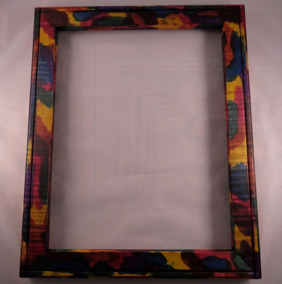 11x14 Rock Maple Light Curl With Multi Colored Tie Dye Etsy