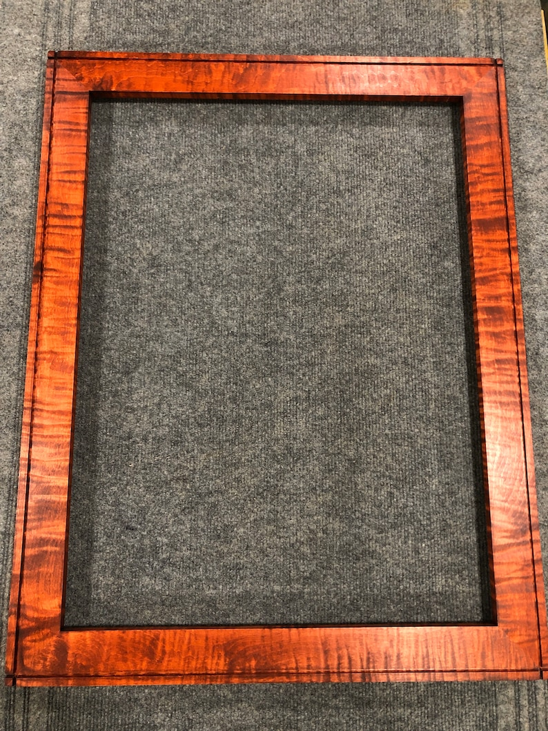 18x24 Curly Maple Reddish Brown Dye Picture Frame