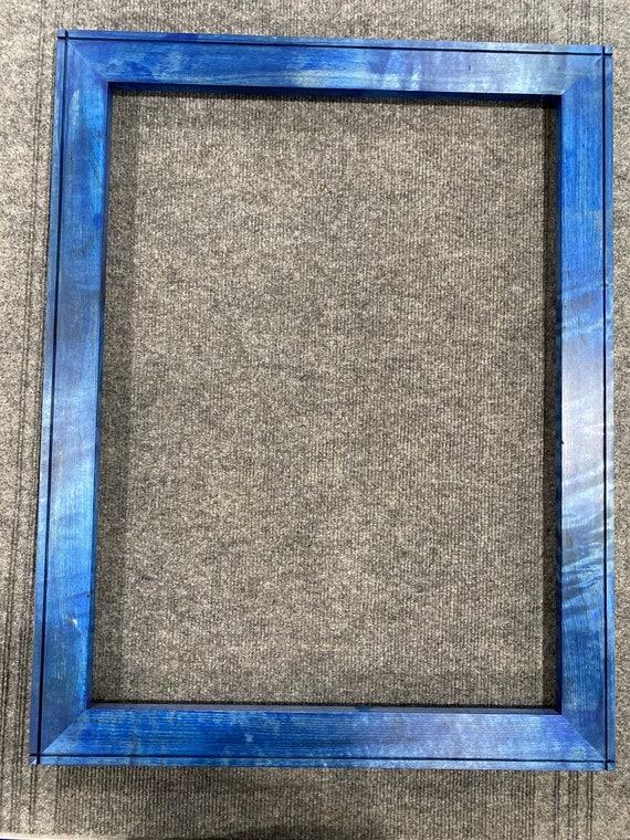 18x24 Curly Maple Deep Royal Blue Dye Picture Frame