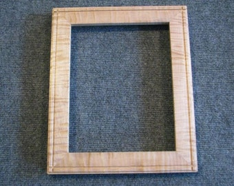 8x10 Curly Maple Picture Frame 5
