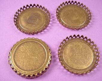 4 brass ox crown bezel settings 30mm