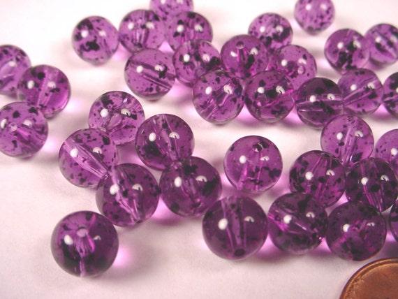 Qty 6 B1881 Mauve Antique Acrylic Lentil Beads