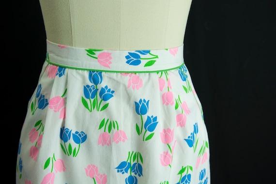 Vintage Tulip Print Skirt Sweetest Novelty Print … - image 4