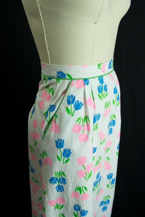 Vintage Tulip Print Skirt Sweetest Novelty Print … - image 5