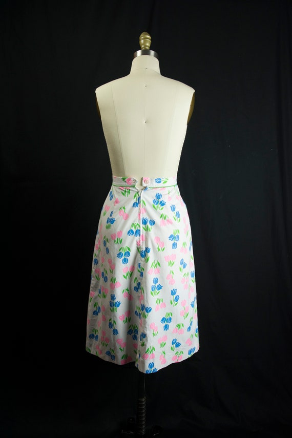 Vintage Tulip Print Skirt Sweetest Novelty Print … - image 6