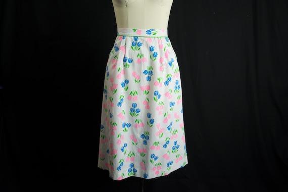 Vintage Tulip Print Skirt Sweetest Novelty Print … - image 3