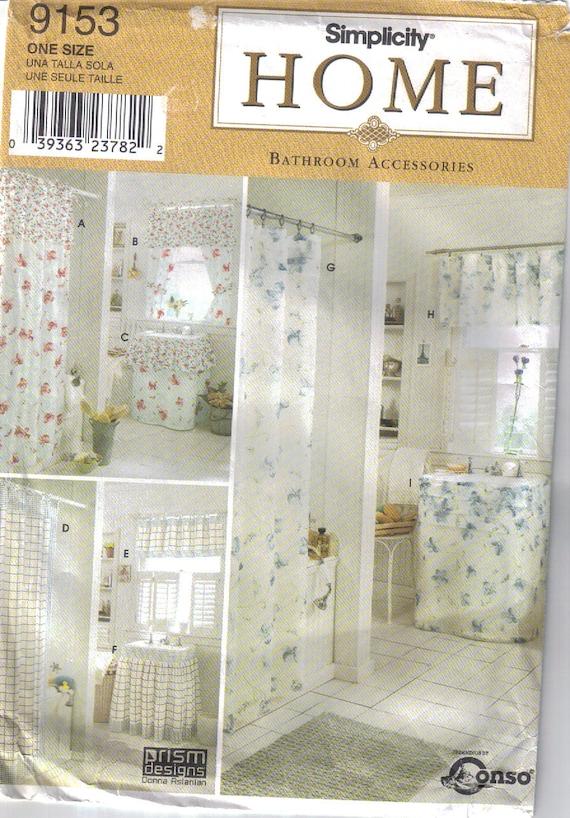 Bad-Accessoires Schnittmuster. Vorhänge Duschvorhang sinken | Etsy
