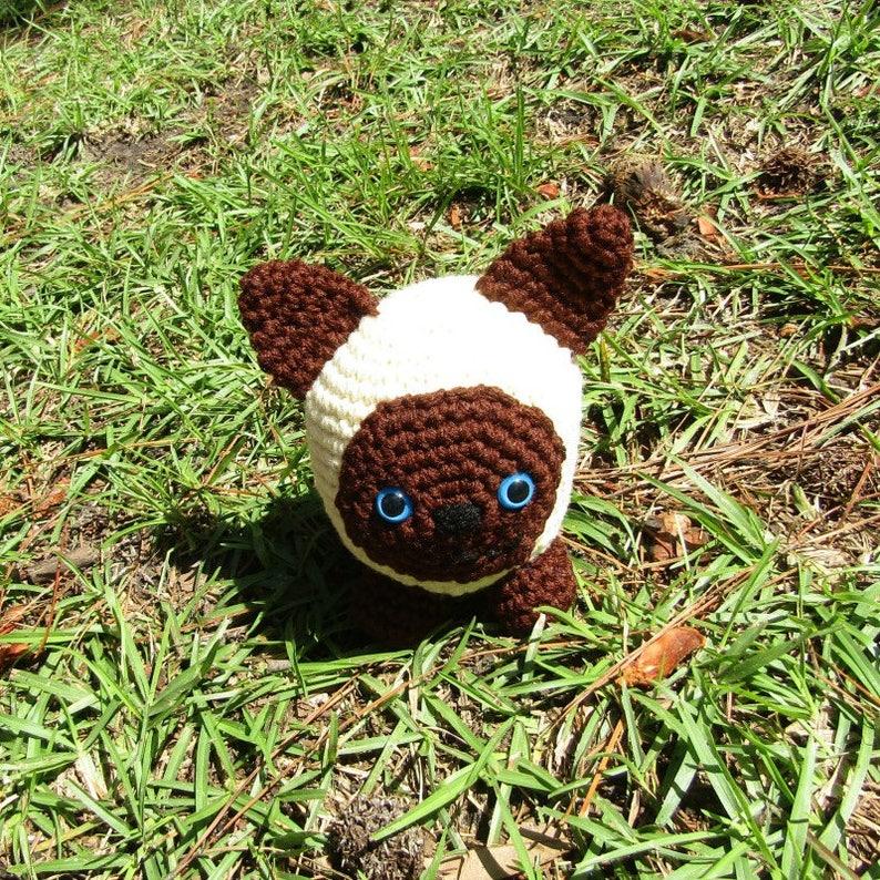 c80c70690e02 Sealpoint Siamese Cat in Crochet. Roly-Poly Amigurumi Plush | Etsy
