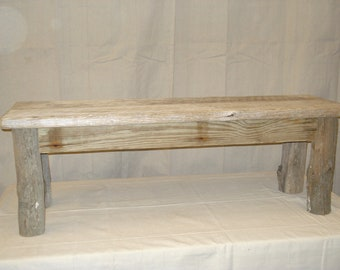 Bench Rustic Bench Reclaimed Bench Driftwood Bench Dining Etsy