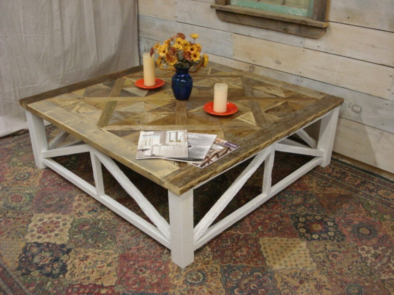 Driftwood Coffee Table.Parquet X Driftwood Coffee Table 55 X 55 X 18 H
