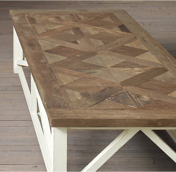 Parquet X Driftwood Coffee Table 50 X 20 X 18 H