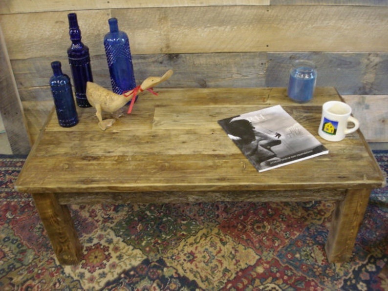 Driftwood Coffee Table Farmhouse coffee Table 42 x 22 x 16 to 20 H Rustic Coffee Table