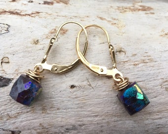 Mystic Ruby Gold Filled  Earrings