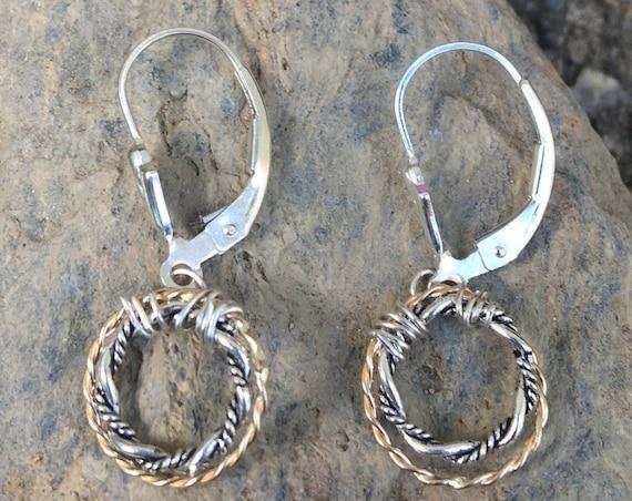 Two Tone Twist Earrings