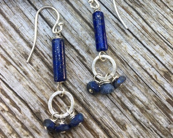 Sterling Silver Mystic Lapis Earrings
