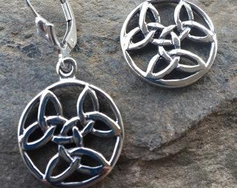 Sterling Celtic Earrings, Irish Celtic Earrings, Celtic Dangles, Irish Jewelry, Silver Celtic Dangles, Celtic Jewelry, Silver Celtic Earring