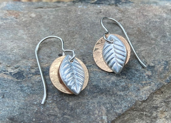 Sterling Gold Filled Leaf Earrings