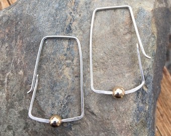 Mixed Metal Two Tone Sterling Gold Filled Hoops
