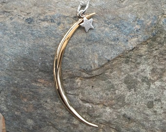 Bronze Moon Sterling Star Necklace