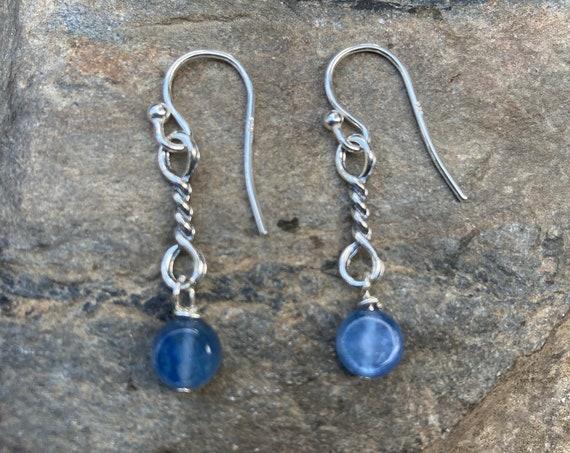 Sterling Silver Kyanite Earrings