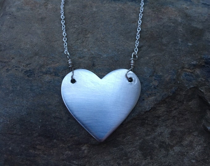 Featured listing image: Sterling Heart Necklace