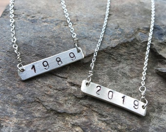 Reversible Custom Necklace, Graduation Necklace, Anniversary Sterling Necklace, Reunion Necklace
