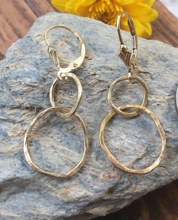 Gold Freeform Earrings