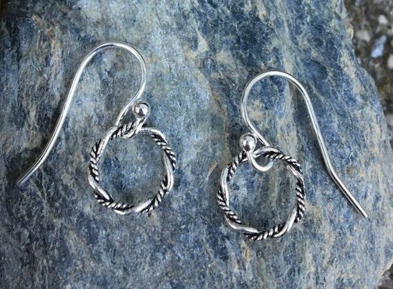 Tiny Dangle Earrings, Tiny Drop, Small Drop, Petite Earrings, Sterling Silver Everyday Earrings