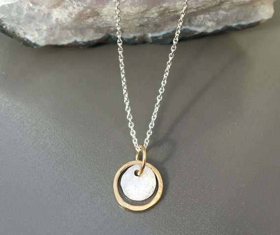 Two Tone Dainty Necklace