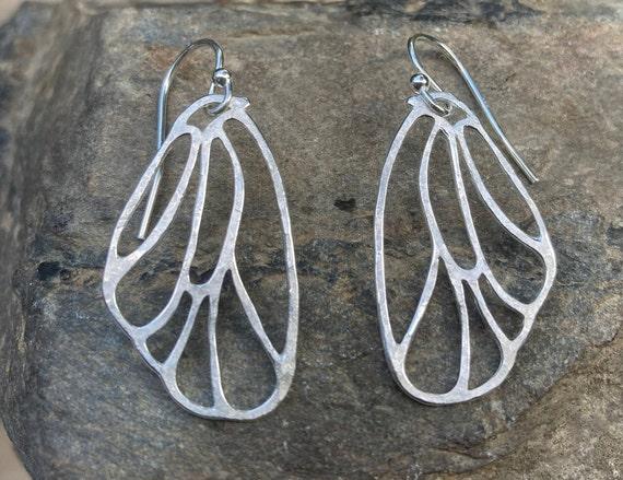Sterling Butterfly Wing Earrings