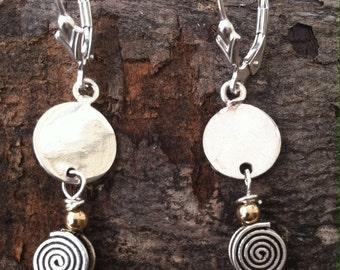 Delicate Sterling Spirals Earrings