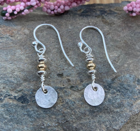 Tiny Hammered Sterling Earrings