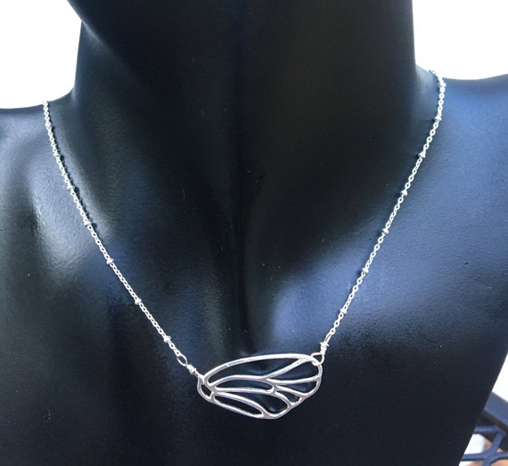 Sterling Butterfly Wing Necklace