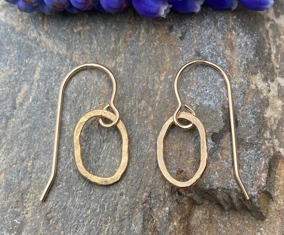 Freeform Gold Filled Earrings