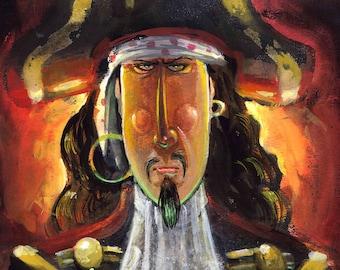 Pirate Ghost, Fine Art Print , Captain Morgan