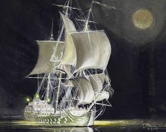 Pirate Ghost Ship, Fine Art Print (Billy Bones' shipThe Marauder)