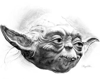 Yoda (Fine Art Print not the real Yoda)