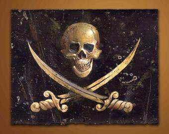 Calico Jack Rackham's Pirate Flag, Fine Art Print, Free Domestic Shipping, Low International Shipping